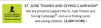 St Jude Thanks and Giving Campaign