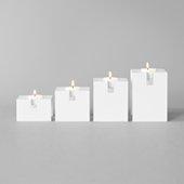 Gloria Stackable Candle Holder White, Set 4 pcs