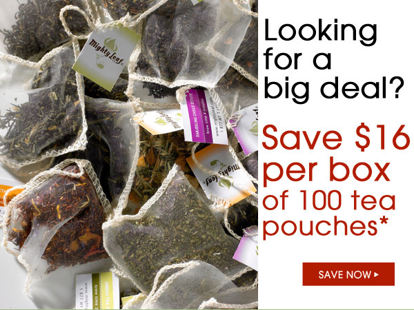 Looking for a big deal? Save $16 per box of 100 tea pouches.* Save Now...