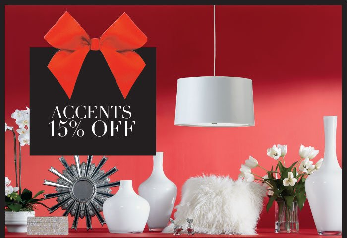 15% off accents