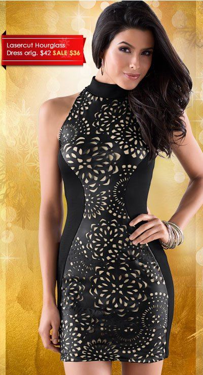 Look STUNNING in this Lasercut Hourglass Dress!