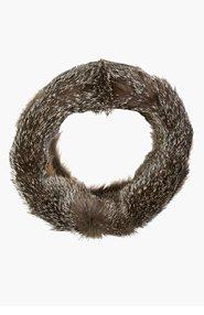 MARNI EDITION Grey Fox Fur Snood for women