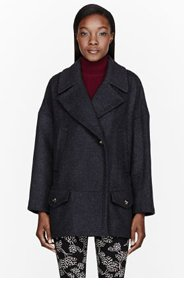 MARC BY MARC JACOBS Charcoal wool Nicoletta Coat for women