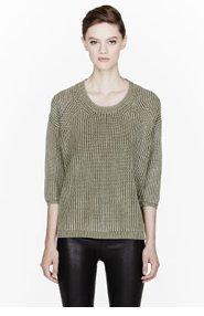 DIESEL Moss green Eikichi knit Crewneck for women