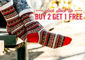 Shop Sock Stock Up: Buy 2 Get 1 Free
