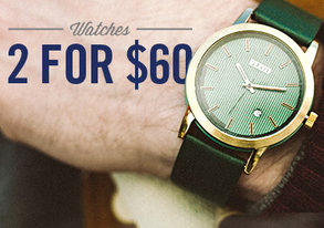 Shop Watches: 2 for $60