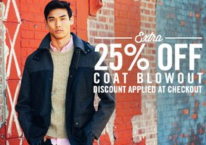 Shop Extra 25% Off: Coat Blowout