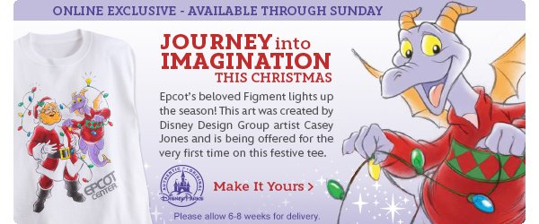 Journey into Imagination this Christmas with this Figment Tee | Shop Now
