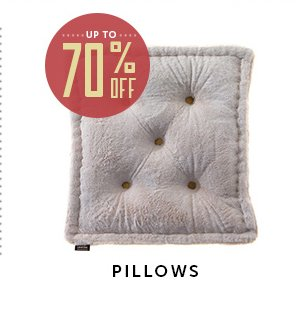 Up to 70% Off Pillows!