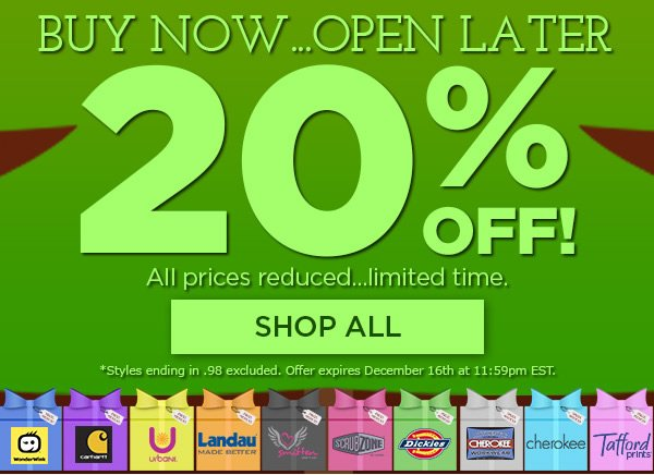 20% Off All Top Brands - Shop All