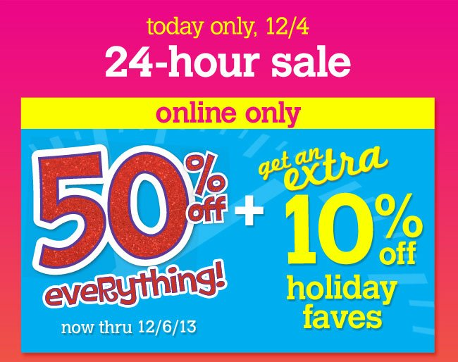 Extra 10% off holiday faves