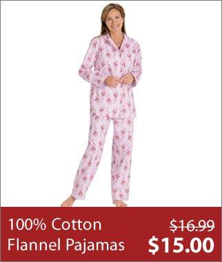 100% Cotton Flannel Pajamas