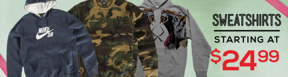 Sweatshirts: Starting at $24.99!