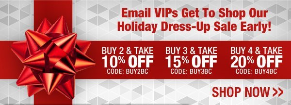 Holiday Dress-Up Sale