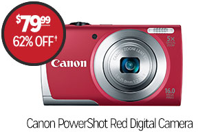 Canon PowerShot Red Digital Camera - $79.99 - 62% off‡