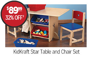 KidKraft Star Table and Chair Set - $89.99 - 32% off‡