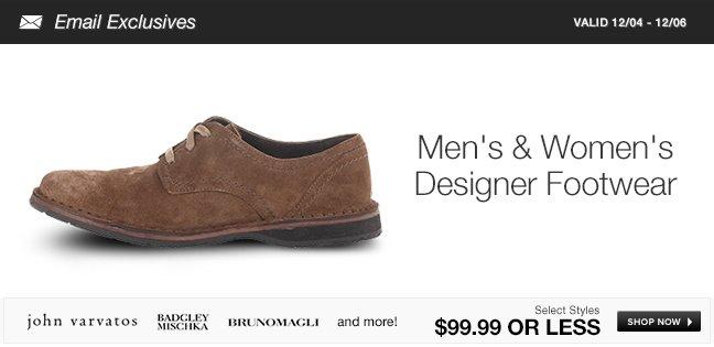 Men's and Women's Designer Footwear