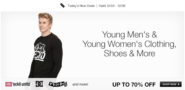Young Men's and Young Women's Clothing, Shoes and More