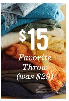 $19 favorite throws