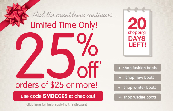 25% Off $25+… An Early Gift For YOU!