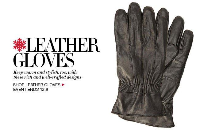Shop leather Gloves for Men