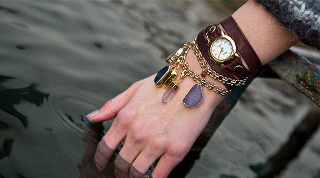 Istanbul Druzy Crystals Wrap Watch