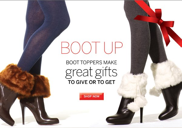 Grab a pair of boot toppers to finish off your winter wardrobe. Plus get free shipping with every purchase of $40 or more.