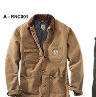 Men's Weathered Duck Chore Coat/Blanket Lined