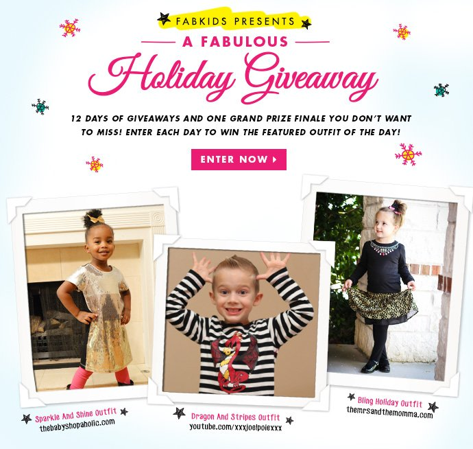 FabKids Fabulous Holiday Giveaway! Enter Today!