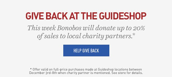 Give Back at the Guideshop