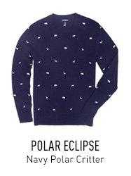 Navy Critter Sweater
