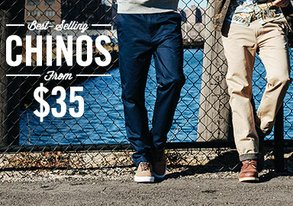 Shop Best-Selling Chinos from $35