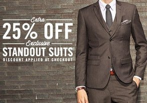 Shop Extra 25% Off: Standout Suits