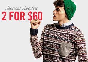 Shop 2 for $60: Seasonal Sweaters