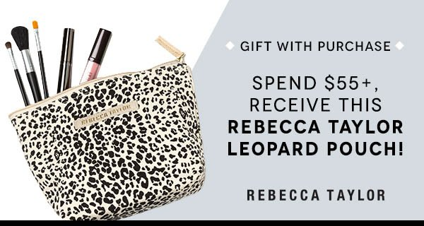 Spend $55+, Receive This Rebecca Taylor Leopard Pouch!