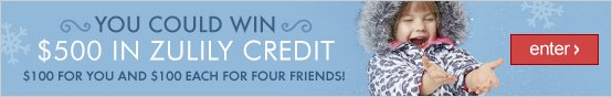 Win $500 in zulily credit!