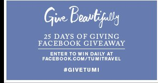 25 Days of Giving Facebook Giveaway - Enter to win
