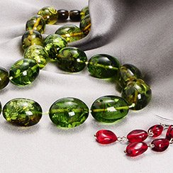 Carribean Green & Red Amber Collection