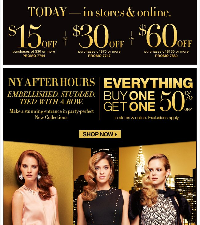 Save Up to $60 In Stores & Online