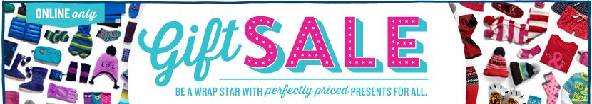 ONLINE only | Gift SALE | BE A WRAP STAR WITH perfectly priced PRESENTS FOR ALL.