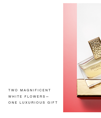 TWO MAGNIFICENT WHITE FLOWERS ONE LUXURIOUS GIFT.
