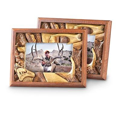 2 Bear Antler Photo Frames