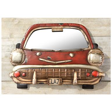 Distressed Metal Car Mirror