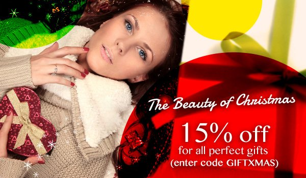 The Beauty Gift for Christmas at extra 15% off!