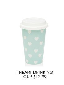 I Heart Drinking Cup