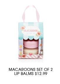 Macaroons Set of 2 Lip Balms