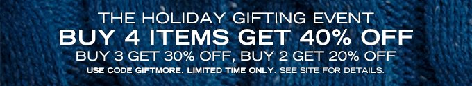 Buy 4 Items Get 40% Off. Limited Time Only. See Site for Details.