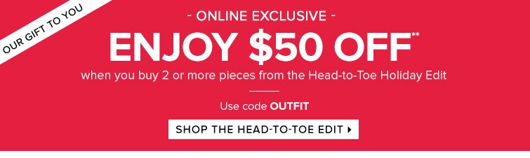 Shop the Head to Toe Edit