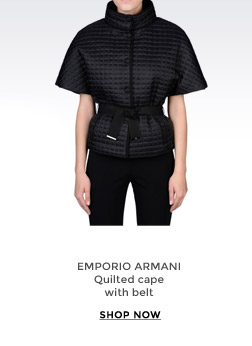 EMPORIO ARMANI - Quilted cape with belt