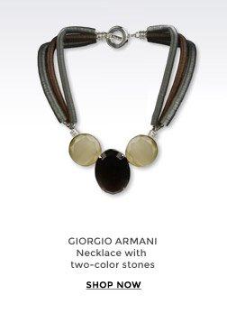 GIORGIO ARMANI - Necklace with two-color stones